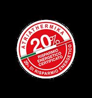 Risparmio energetico dei costi di raffreddamento e riscaldamento degli ambienti trattati per un risparmio certificato fino al 20%